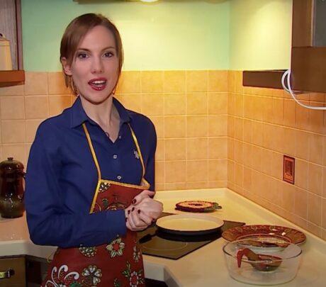 Naya iscooking pancakes